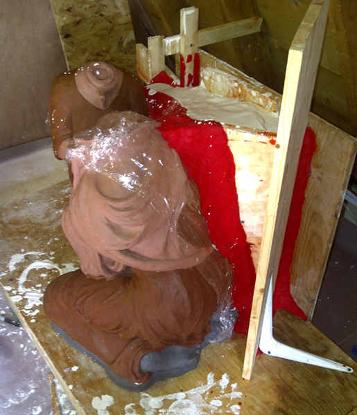 Pouring your Plaster Mold | Pieta carved in marble