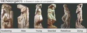 Michelangelo six slaves