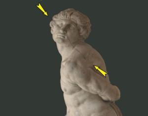 Michelangelo Rebellious Slave Flaw