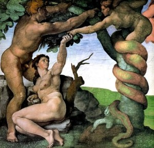 Adam & Eve Sistine Chapel
