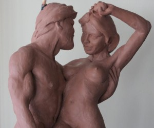 The Pair Adam Eve Maquette Randall a