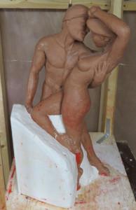 The Pair Adam Eve Maquette Randall 1ha