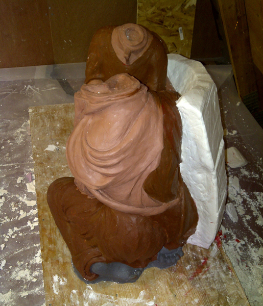 Committing To The Plaster Process Pieta Carved In Marble